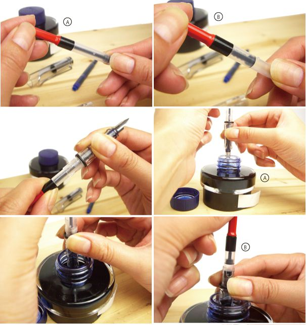 万年筆の使い方・書き方・お手入れ方法・洗浄方法
