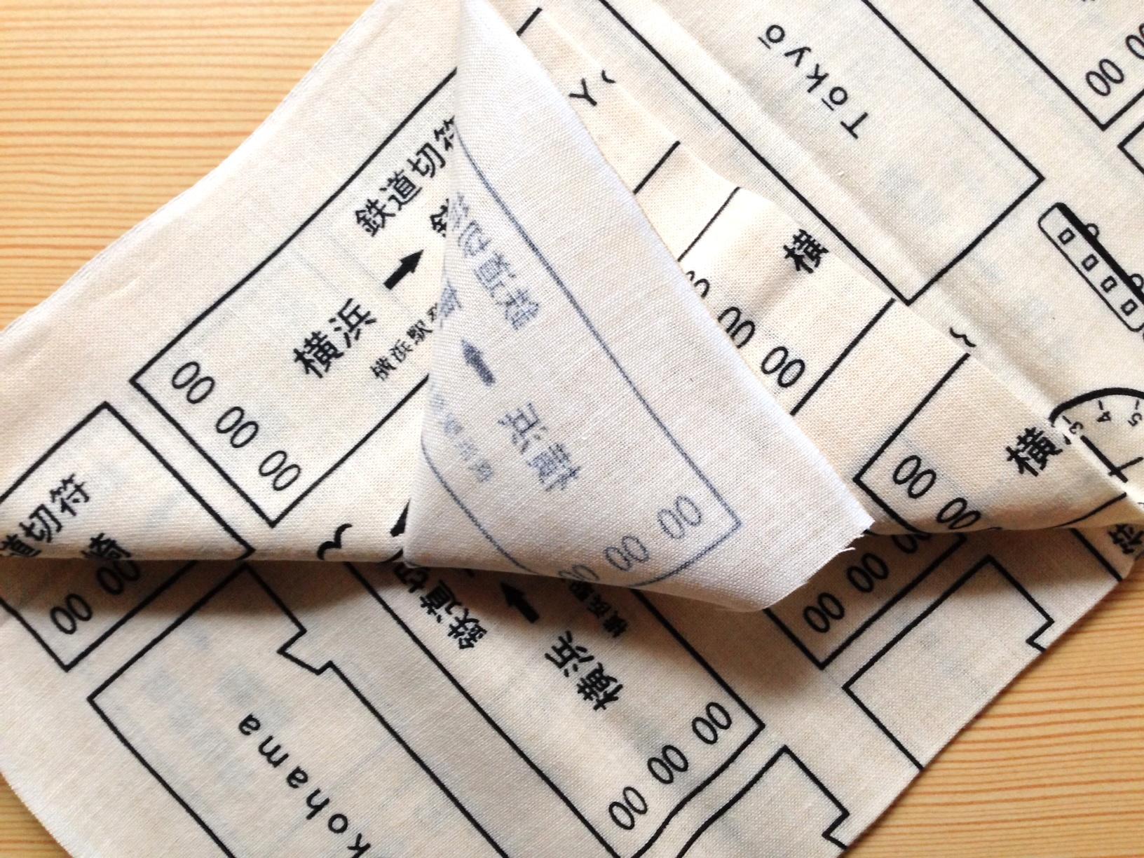 濱文様の日本てぬぐい
