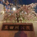 生田川公園にて
