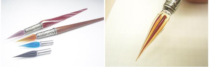 つけペン・ガラスペンの使い方・...