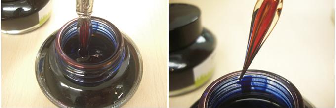 つけペン・ガラスペンの使い方・書き方・洗い方・洗浄方法