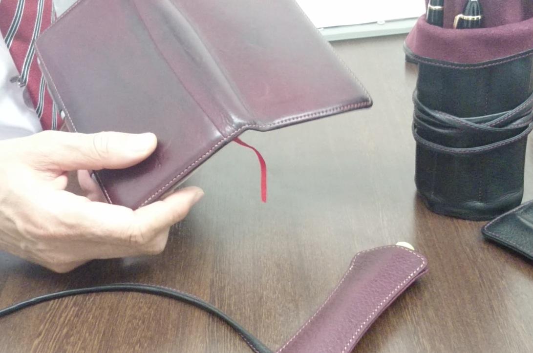 ナガサワオリジナル キップレザーペンケース