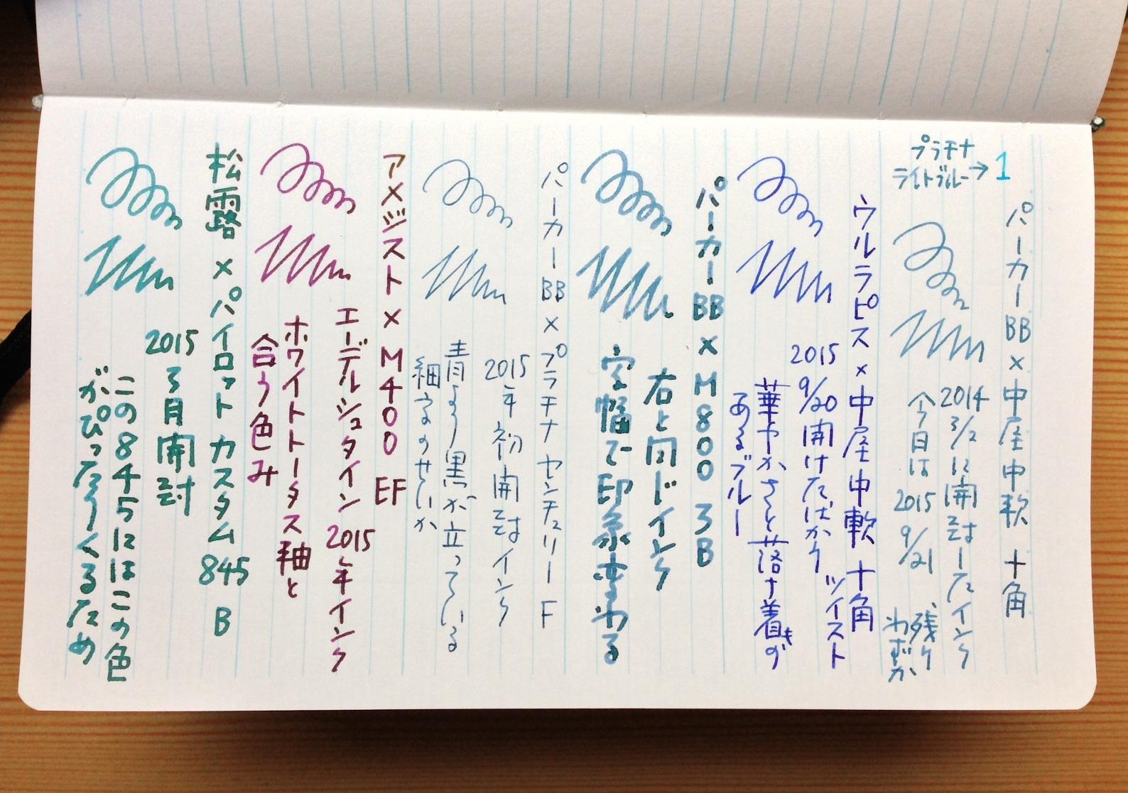 神戸手帖 備忘録 c5×6
