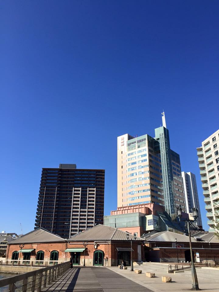 快晴の神戸ハーバーランド