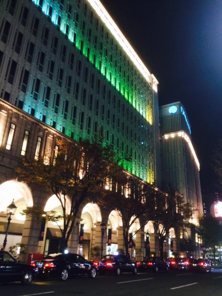 旧居留地ライトアップ試験点灯