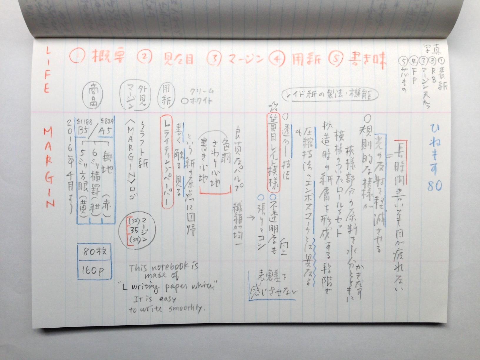 小日向京のひねもす文房具|第八十回「ライフ マージンノート A5 横罫」