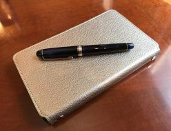 小日向京のひねもす文房具|第八十七回「スライド手帳 HIRATAINDERバイブル type G シャンパンゴールド」