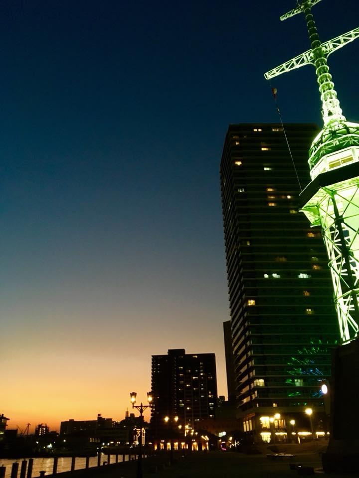 神戸煉瓦倉庫界隈の夕暮れ