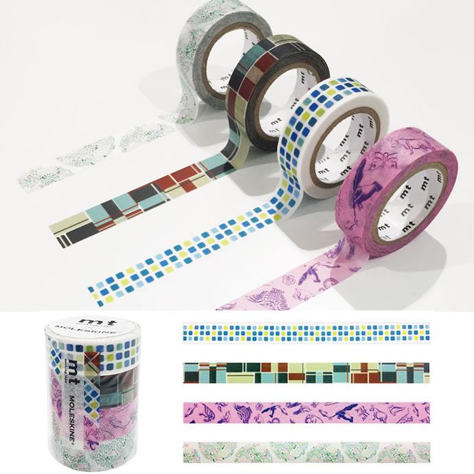 mt ×モレスキン マスキングテープ 4巻コンプリートセット