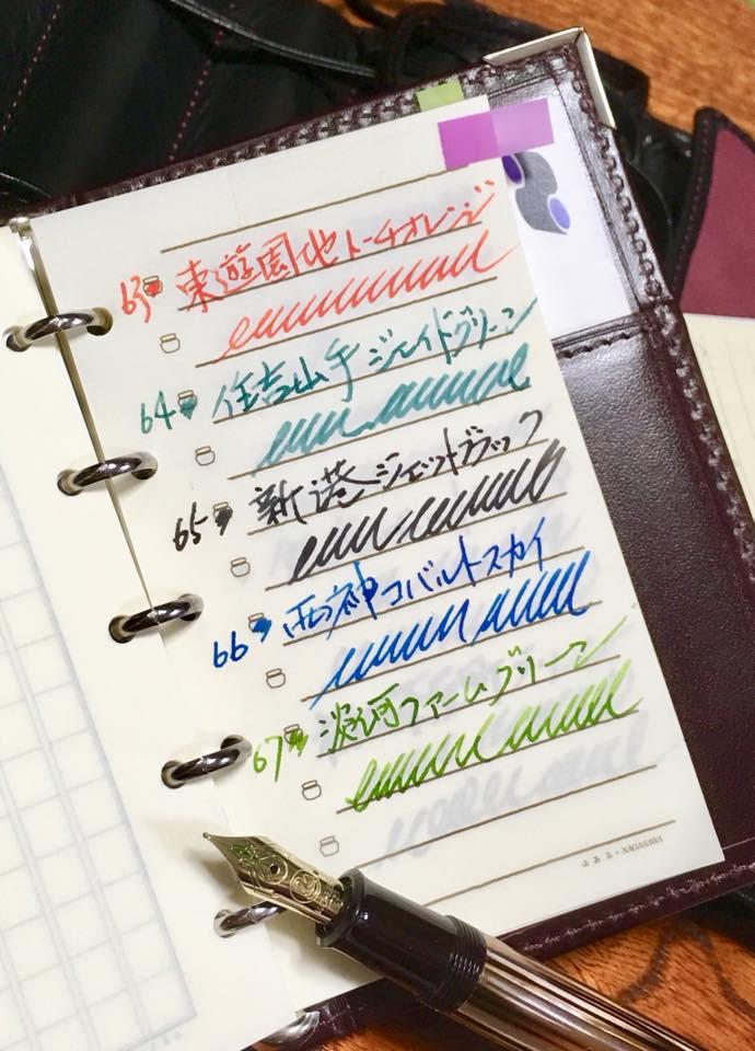 Kobe INK物語 サンプル帳創り
