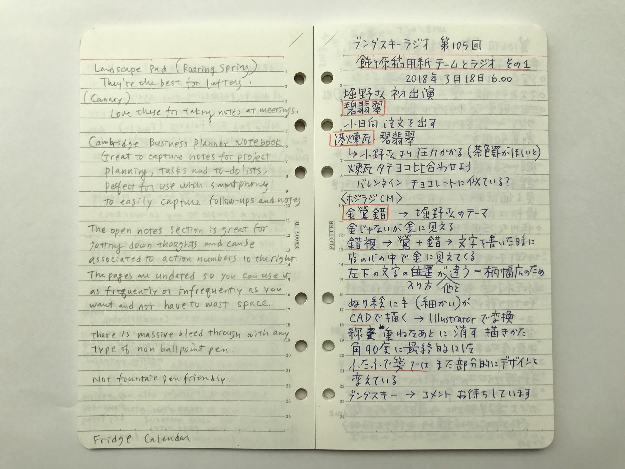 小日向京のひねもす文房具|第百四十二回「デザインフィル PLOTTER(プロッター)リフィルメモパッド 6ミリ罫線 バイブルサイズ」