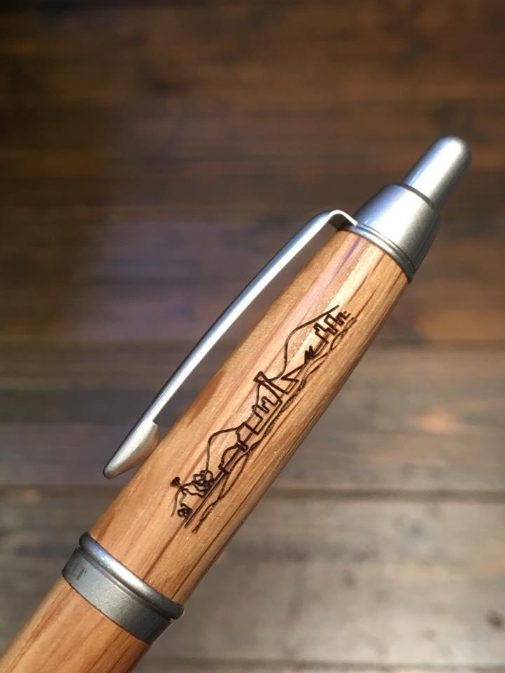 神戸愛 木軸ボールペン