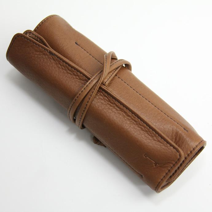 【限定】NAGASAWA PenStyle 5本差しL キップレザー ロールペンケース 栗茶