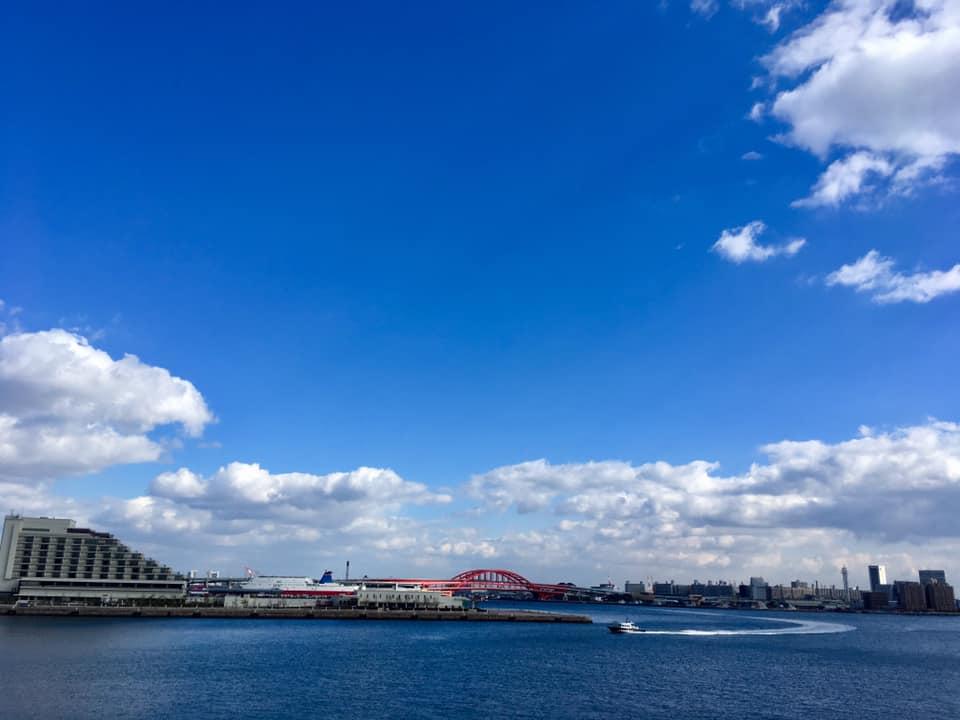 神戸パノラマと波止場ブルー