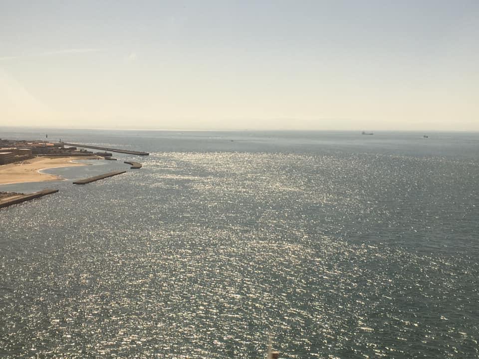 明石海峡大橋からの光景