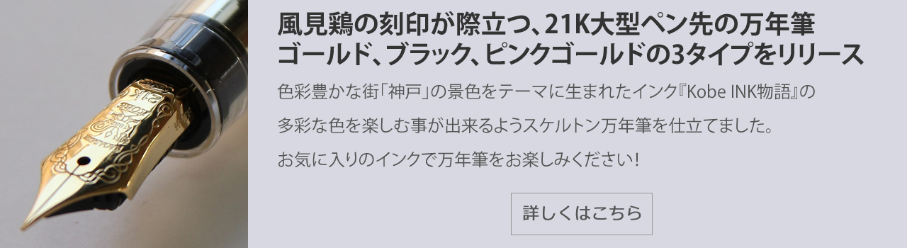 NAGASAWAオリジナル万年筆 ギアスケ プロフェッショナルギアモデル スケルトン