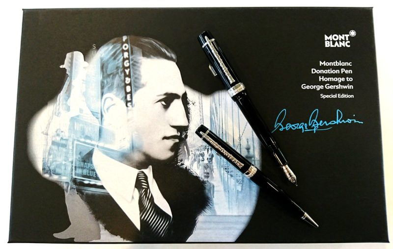 モンブランのドネーションペン「ジョージ・ガーシュウィン」万年筆モンブランのドネーションペン「ジョージ・ガーシュウィン」万年筆