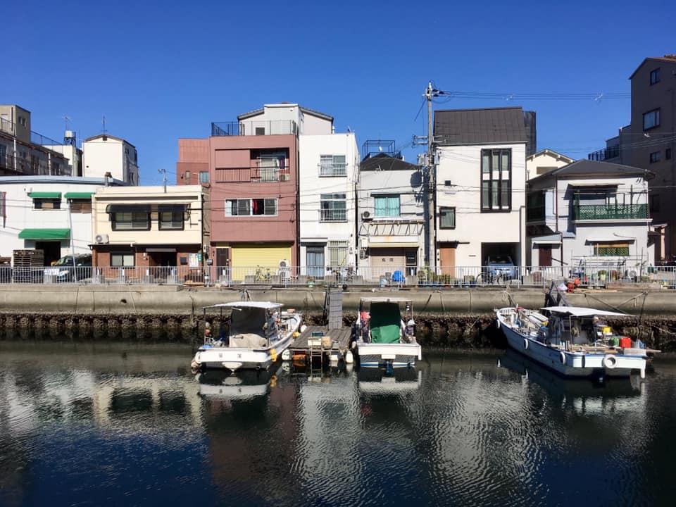 兵庫津への道・ヒストリーブルー