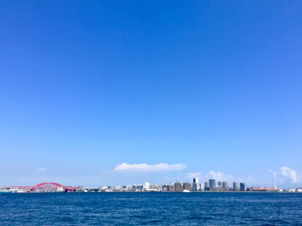 梅雨明けの神戸ハーバーランド
