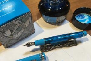 NAGASAWAオリジナル 限定万年筆 【Kobe Wind Blue/神戸ウィンドブルー】プロフェッショナルギアスリムベース