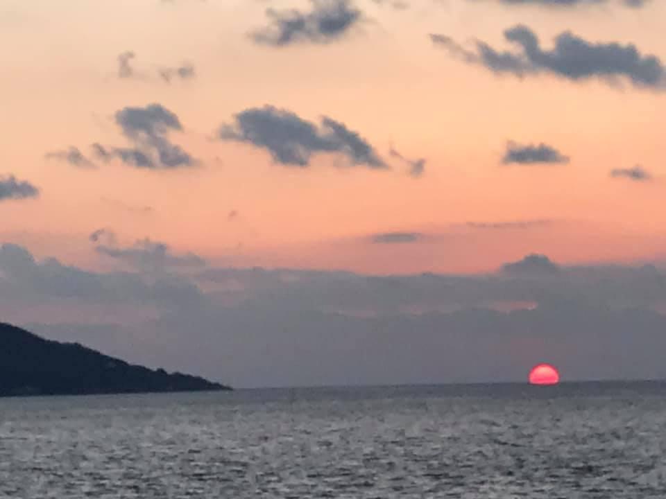 明石海峡の夕陽