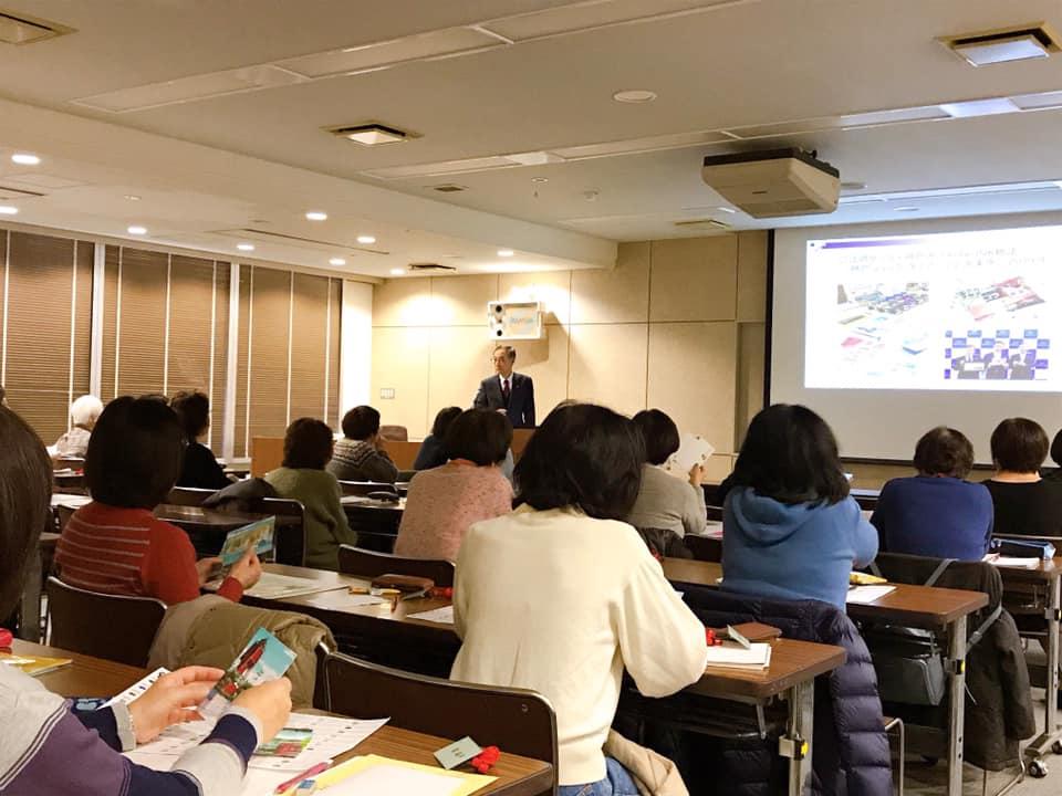 神戸婦人大学にてKobe INK物語開発秘話